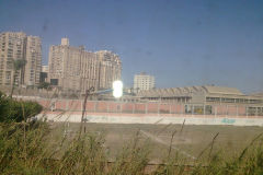 Buildings as seen from train between Cairo and Alexandria