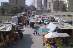 A market near the train station in Al Fayyum Egypt