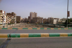 View from bridge at the train station in Al Fayyum Egypt