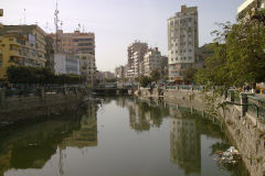 The Bahr Yussef canal in Al Fayyum Egypt