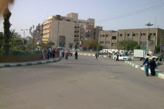 A street in Al Faiyum in Egypt