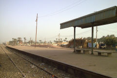 Train station between Al Faiyum and Al Wasta in Egypt.