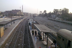 Train station Al Wasta in Egypt