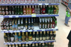 Drinks without alcohol in a store in Cairo Egypt
