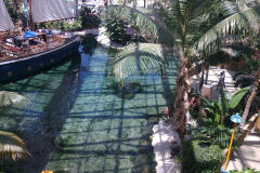 Lake inside Gaylord Palms, Orlando, Florida, USA