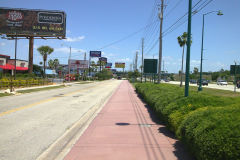 Street near Gaylord Palms, Orlando, Florida, USA