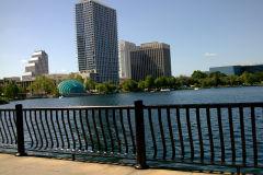Lake in the center of Orlando, Florida, USA