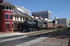 Old steam locomotive in Orlando, Florida, USA