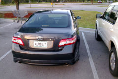 My first car in the USA, a Toyota Camry, Florida
