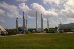 Different rockets at Kennedy Space Center, Florida, USA