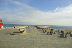 At the beach in Barcelona, Spain