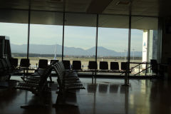At the airport Girona, Spain