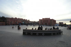 Central place in Ouarzazate, Morocco