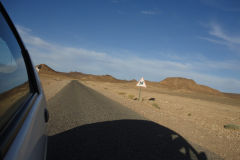 Desert Landscape on the road between Ouarzazate and Mhamid in Morocco