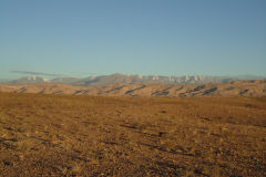 Desert landscape in the morning near Ouarzazate in Morocco