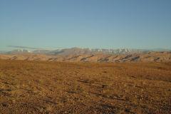 Desert landscape in the morning near Ouarzazate in Morocco