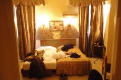 Hotel room at the Grand Hotel Tazi in Marrakech, Morocco
