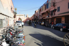 Street scene in Marrakesh, Morocco