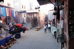 Street scene inside the Medina in Marrakesh, Morocco