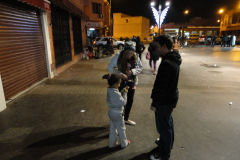 Begging child in the night in Marrakesh, Morocco