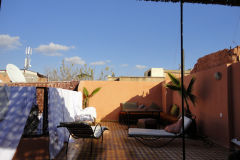 On top of a riad hostel in Marrakesh, Morocco