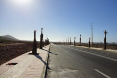 Road at the city border of Sidi Ifni, Morocco