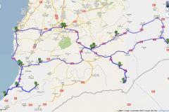 Travel route in Marocco 2011