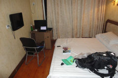 A cheap hotel room in Xingcheng, China