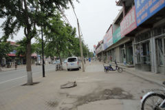 A street scene in Xingcheng, Liaoning, China