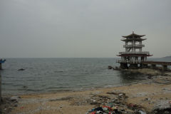 Pagoda temple at the beach of Xingcheng, Liaoning, China