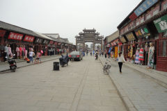 Old city centre in Xingcheng, Liaoning, China