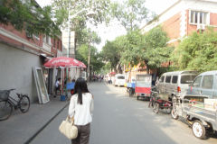 A street scene in Tianjin, China