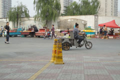A street scene in Jinan, China