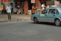 A street scene in Jinan, China