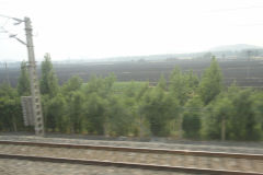 View from the train between Jinan and Nanjing in China