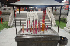 Incense sticks at a temple in Nanjing, China