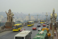 View from Nanjing Yangtze River Bridge in Nanjing, China