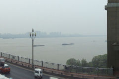 View from Nanjing Yangtze River Bridge in Nanjing, China