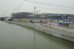 Train station under construction in Suzhou, China
