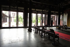 Inside a temple in Suzhou, China