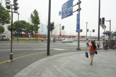 A street scene in Shanghai, China