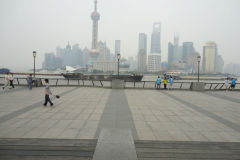 Pudong as seen from The Bund in Shanghai, China