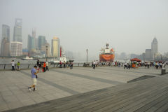 Large tanker ship on the Huangpu River in Shanghai, China