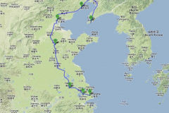 Travel route in China 2012