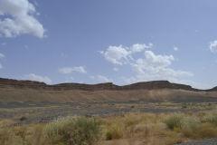 Sahara desert landscape between Zagora and Merzouga, Morocco