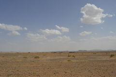 Sahara desert landscape between Zagora and Merzouga, Morocco