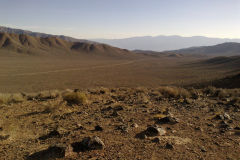 Leaving Death Valley over the Emigrant Pass in California, USA