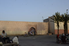 Gate to the old city (medina) of Marrakech, Morocco