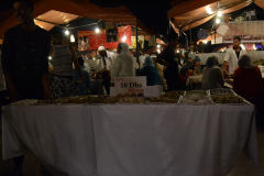 Food at the Jemaa el.Fnaa in Marrakech, Morocco