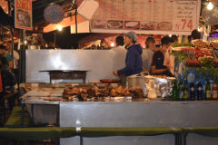 Food at the Jemaa el.Fnaa in Marrakech, Morocco
